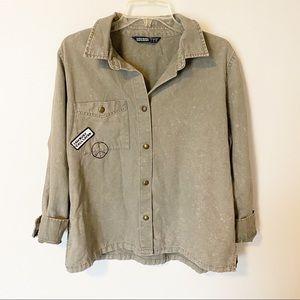 Zara denim jacket acid wash size large